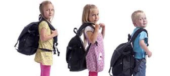 tamaño de la mochila escolar